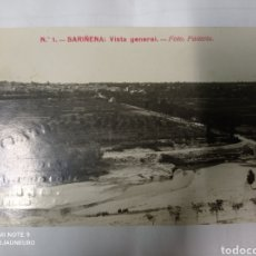 Postales: SARIÑENA ZARAGOZA - VISTA GENERAL - POSTAL FOTOGRAFICA CON PUBLICIDAD. FOTO. PALACIO.. Lote 278608878