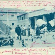 Postales: ARAGON. EN UNA POSADA. CIRCULADA DESDE ZARAGOZA EN 1905.CECILIO GASCA. RARA.. Lote 281771368