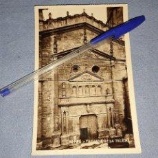 Postales: ANTIGUA POSTAL ORIGINAL DE CRETAS TERUEL FACHADA DE LA IGLESIA. Lote 283758158