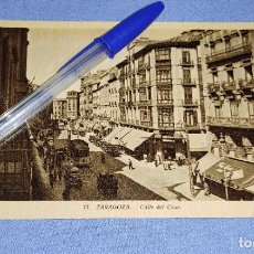 Postales: ANTIGUA POSTAL ORIGINAL DE ZARAGOZA CALLE DEL COSO. Lote 283759108