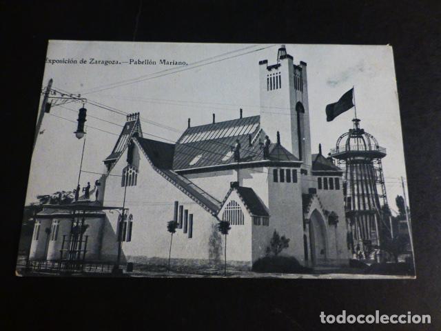 ZARAGOZA EXPOSICION PABELLON MARIANO (Postales - España - Aragón Antigua (hasta 1939))