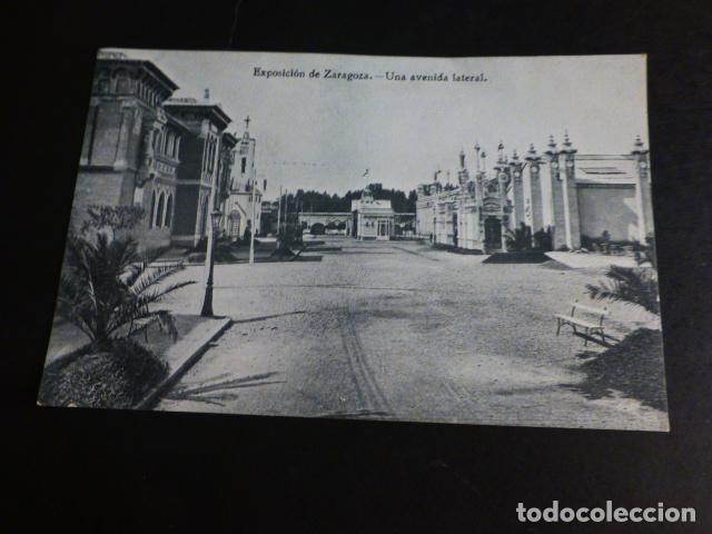 ZARAGOZA EXPOSICION UNA AVENIDA LATERAL (Postales - España - Aragón Antigua (hasta 1939))