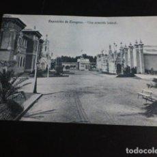 Postales: ZARAGOZA EXPOSICION UNA AVENIDA LATERAL. Lote 286500148