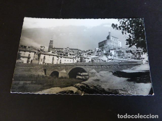 ALBALATE DEL ARZOBISPO TERUEL PUENTE SOBRE EL RIO MARTIN IGLESIA Y CASTILLO (Postales - España - Aragón Antigua (hasta 1939))