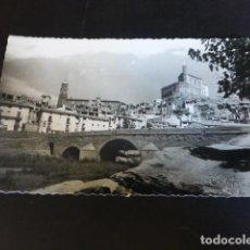 Postales: ALBALATE DEL ARZOBISPO TERUEL PUENTE SOBRE EL RIO MARTIN IGLESIA Y CASTILLO. Lote 286600763