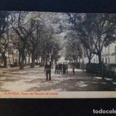 Postales: CALATAYUD ZARAGOZA PASEO DEL MARQUES DE LINARES. Lote 286974763