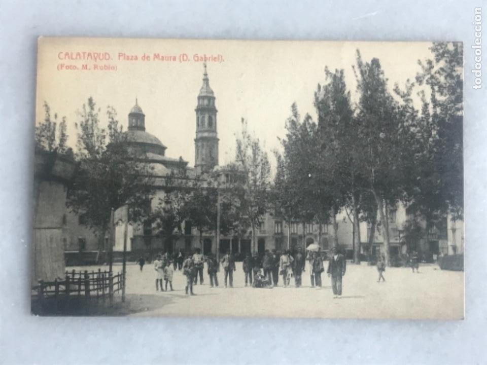 TARJETA POSTAL CALATAYUD. PLAZA DE MAURA. FOTO RUBIO (Postales - España - Aragón Antigua (hasta 1939))