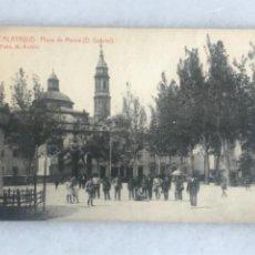 Postales: TARJETA POSTAL CALATAYUD. PLAZA DE MAURA. FOTO RUBIO. Lote 287059728