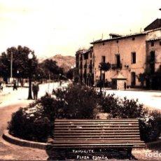 Postales: TAMARITE (HUESCA) - PLAZA DE ESPAÑA. Lote 287183718