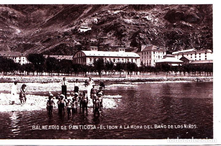 PANTICOSA (HUESCA) - EL IBON A LA HORA DEL BAÑO DE LOS NINOS (Postales - España - Aragón Moderna (desde 1.940))
