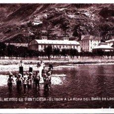 Postales: PANTICOSA (HUESCA) - EL IBON A LA HORA DEL BAÑO DE LOS NINOS. Lote 287183773