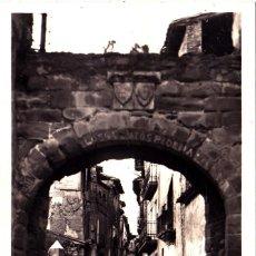 Postales: ESTADILLA (HUESCA) - ARCO DEL PORTAL DEL SOL Y CALLE MAYOR. Lote 287183908