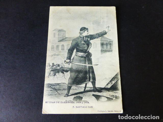 ZARAGOZA RUINAS 1808 1809 D. SANTIAGO SAS L. ESCOLÁ (Postales - España - Aragón Antigua (hasta 1939))