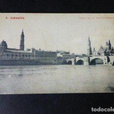 Postales: ZARAGOZA VISTA DE LAS DOS CATEDRALES. Lote 287243228