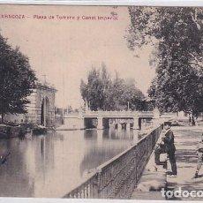 Postales: ZARAGOZA PLAYA DE TORRERO Y CANAL IMPERIAL. SIN CIRCULAR.. Lote 287346063