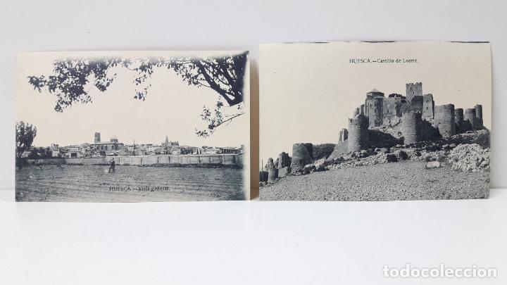 Postales: DOS TARJETAS POSTALES . HUESCA VISTA GENERAL - CASTILLO LOARRE . SIN CIRCULAR - Foto 5 - 287441833