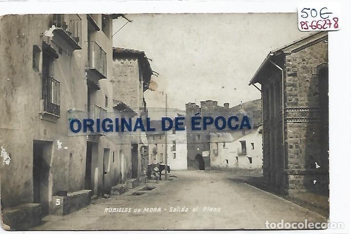 (PS-66278)POSTAL FOTOGRAFICA DE RUBIELOS DE MORA-SALIDA AL PLANO (Postales - España - Aragón Antigua (hasta 1939))