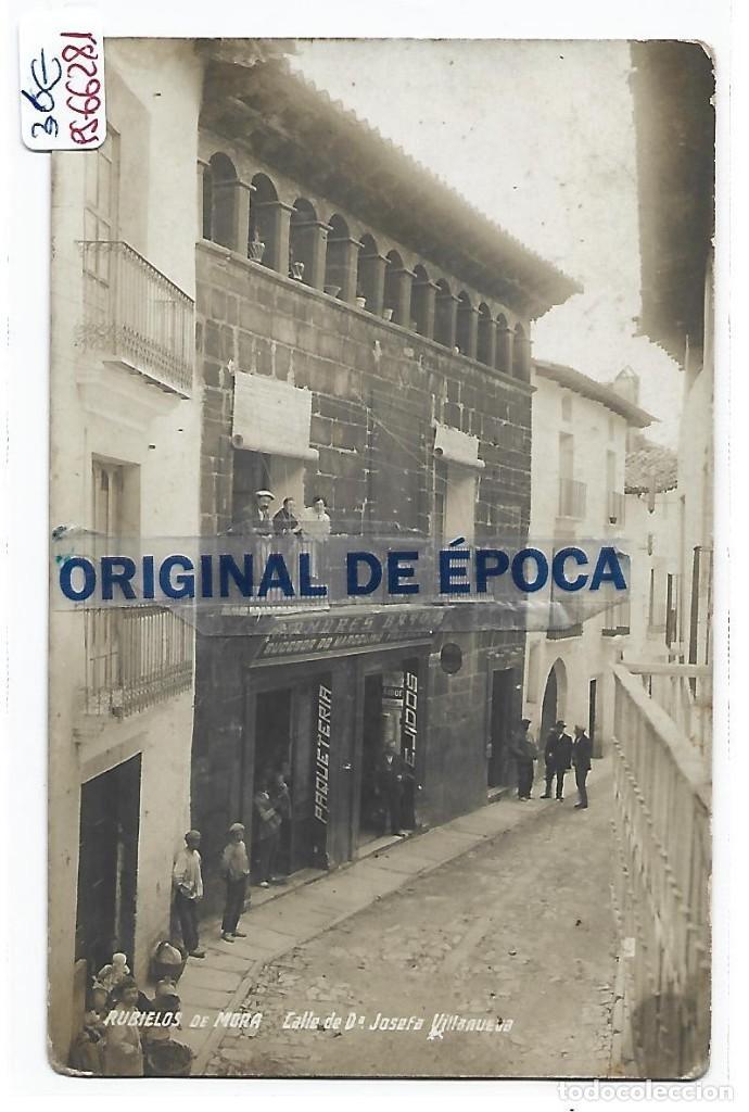 (PS-66281)POSTAL FOTOGRAFICA DE RUBIELOS DE MORA-CALLE DE Dª.JOSEFA VILLANUEVA (Postales - España - Aragón Antigua (hasta 1939))