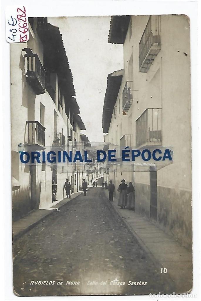 (PS-66282)POSTAL FOTOGRAFICA DE RUBIELOS DE MORA-CALLE DEL OBISPO SANCHEZ (Postales - España - Aragón Antigua (hasta 1939))
