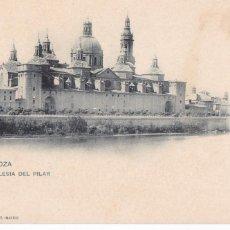 Postales: ZARAGOZA, IGLESIA DEL PILAR. ED. HAUSER Y MENET Nº 1. REVERSO SIN DIVIDIR. Lote 288072758
