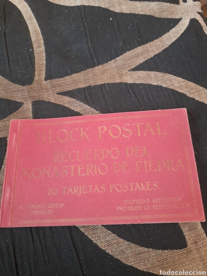 BLOC CON 19 POSTALES, MONASTERIO DE PIEDRA, M,ARRIBAS (Postales - España - Aragón Antigua (hasta 1939))