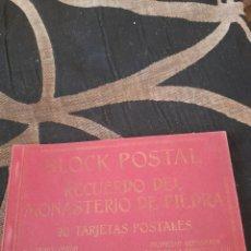 Postales: BLOC CON 19 POSTALES, MONASTERIO DE PIEDRA, M,ARRIBAS. Lote 288180343