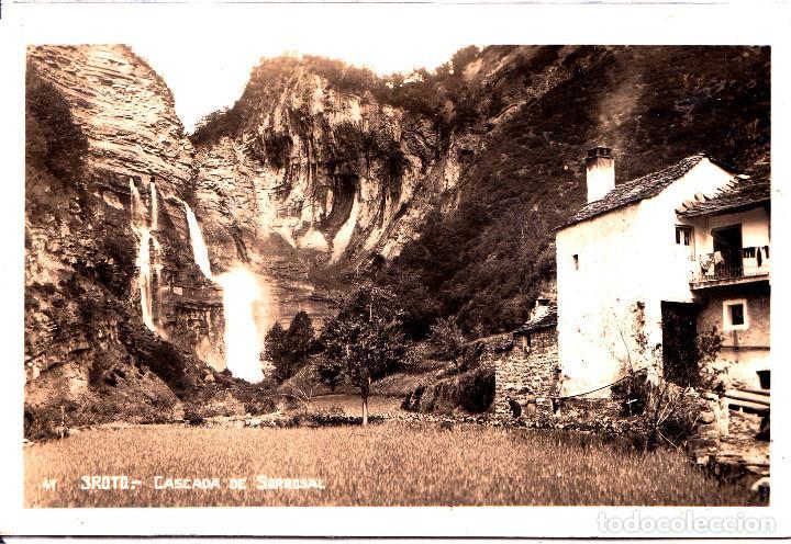 BROTO (HUESCA) - CASCADA DE SORROSAL (Postales - España - Aragón Antigua (hasta 1939))