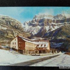 Postales: TORLA - ARAGON - HOTEL Y CAMPING ORDESA. Lote 288449498