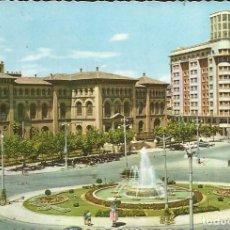 Postales: [POSTAL] PLAZA DE PARAÍSO. ZARAGOZA. AÑO 1961 (CIRCULADA). Lote 288517513