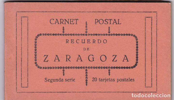 ZARAGOZA BLOC POSTAL COMPLETO CON 20 POSTALES, UNA DOBLE. NO CONSTA EDITOR NI FOTOGRAFO (Postales - España - Aragón Antigua (hasta 1939))