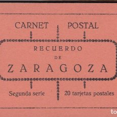 Postales: ZARAGOZA BLOC POSTAL COMPLETO CON 20 POSTALES, UNA DOBLE. NO CONSTA EDITOR NI FOTOGRAFO. Lote 289738838