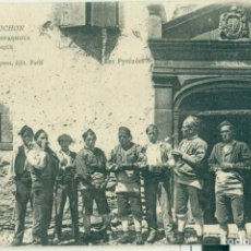 Postales: BENASQUE, GRUPO DE BATURROS .CASA FAURE. MUY RARA. CIRCULADA H. 1905.POSTAL FRANCESA. COL. SPONT.. Lote 291200993