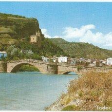 Postales: POSTAL DE GRAUS (HUESCA) SIN CIRCULAR- VISTA PARCIAL PUENTE ROMANICO -EDICIONES SICILIA Nº 20. Lote 294071238