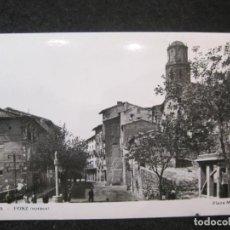Postales: FONZ (HUESCA)-PLAZA MAYOR-FOTOGRAFICA-POSTAL ANTIGUA-(85.123). Lote 294964978
