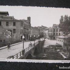 Postales: BARBASTRO-PUENTE DE LA VICTORIA-PUBLICIDAD ACIN-FOTOGRAFICA ARRIBAS-POSTAL ANTIGUA-(85.129). Lote 294965528