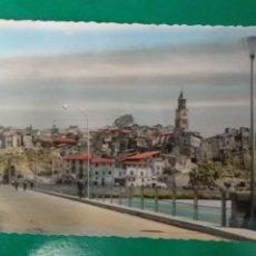 Postales: FRAGA ( HUESCA ) VISTA PARCIAL Y PUENTE SOBRE EL RIO CINCA, GARCIA GARRABELLA 28. Lote 295297058