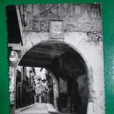 Postales: GRAUS, HUESCA. PORTAL DE LINES Y CALLE MUR Y MUR. ED. SICILIA 20.. Lote 295301373