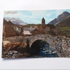 Postales: POSTAL - PIRINEO ARAGONES - HUESCA - BIELSA - VISTA PARCIAL Y PUENTE SOBRE EL BARROSA. Lote 295648523