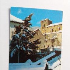 Postales: POSTAL - PIRINEO ARAGONES - BROTO - IGLESIA PARROQUIAL DE ESTILO GOTICO Y TORRE ALMENADA. Lote 295648803