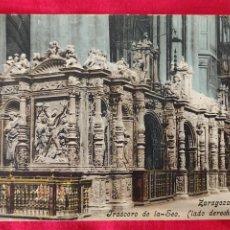 Postales: TARJETA POSTAL ZARAGOZA. FRASCORO DE LA SEO.. Lote 295785868