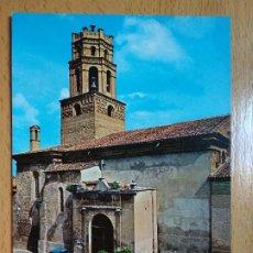 Postales: MONZON. HUESCA. IGLESIA DE STA MARIA DEL ROMERAL. SEAT 600. Lote 296577463