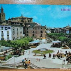 Postales: BARBASTRO, HUESCA - PLAZA DE ARAGON.. Lote 296578698