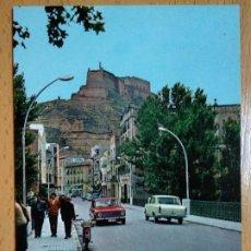 Postales: MONZÓN - CALLE GENERAL MOLA Y CASTILLO AL FONDO. Lote 296579023