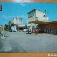 Postales: HUESCA - CARRETERA GENERAL HUESCA ZARAGOZA - ENTRADA CAPITAL - GASOLINERA -. Lote 296579393