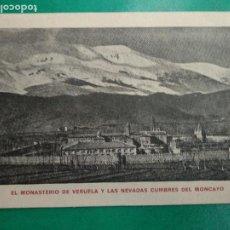 Postales: ZARAGOZA - EL MONASTERIO DE VERUELA Y LAS NEVADAS CUMBRES DE MONCAYO. IMP. OROZ Y MARTINEZ. Lote 296709428