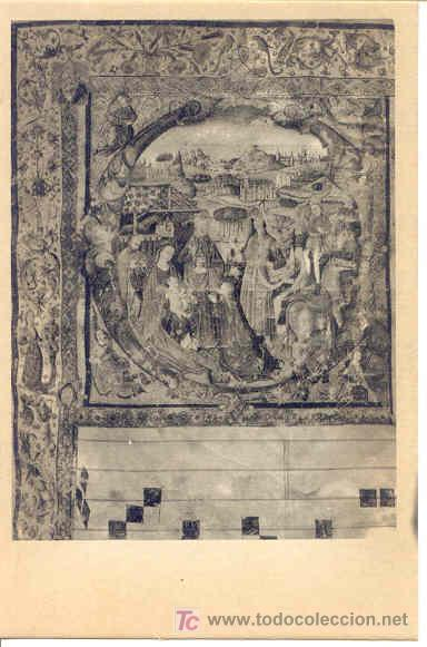 TARJETA POSTAL CATEDRAL DE AVILA. LIBRO DE CORO. EPIFANÍA (Postales - Postales Temáticas - Arte)