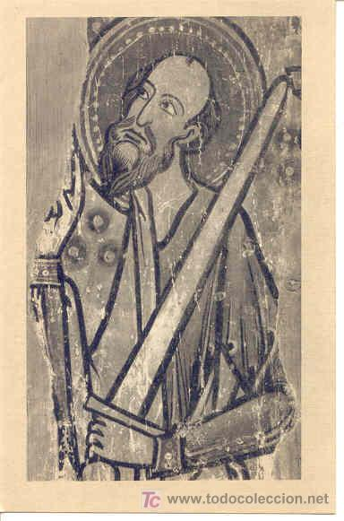 TARJETA POSTAL CATEDRAL DE AVILA. MUSEO. SAN PABLO. TABLA SIGLO XII (Postales - Postales Temáticas - Arte)