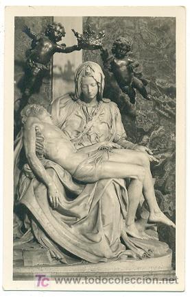 ESCULTURA. LA PIEDAD DE MIGUEL ANGEL (VATICANO). POSTAL ANTIGUA. (Postales - Postales Temáticas - Arte)