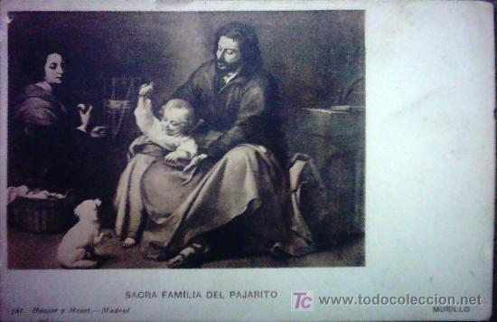 POSTAL , SAGRADA FAMILIA DEL PAJARITO MURILLO (Postales - Postales Temáticas - Arte)