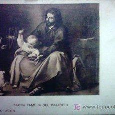 Postales: POSTAL , SAGRADA FAMILIA DEL PAJARITO MURILLO. Lote 26405406